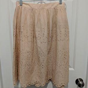 NWT Pale Pink Midi Skirt